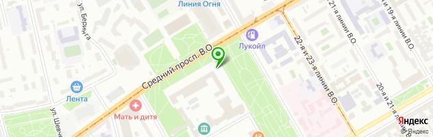 Автостоянки СПб — схема проезда на карте
