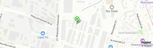 Ремонт глушителей и катализаторов Выхлоп-сервис — схема проезда на карте