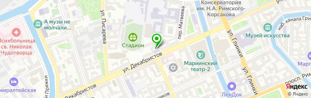 Копировальный центр Copy & past — схема проезда на карте