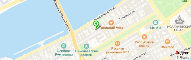 Кафе-бар На Галерной — схема проезда на карте