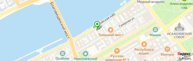 Ресторан Миндаль cafe — схема проезда на карте