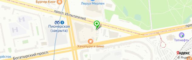 Ресторанный комплекс Ля Мур — схема проезда на карте