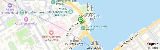Зоологический институт РАН — схема проезда на карте