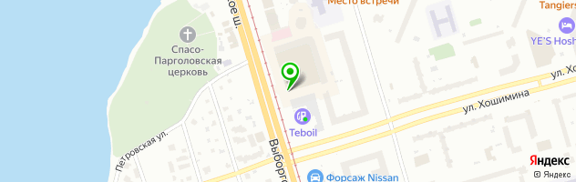Априори — схема проезда на карте