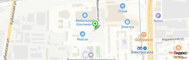 Автомойка на Варшавской улице, 3в — схема проезда на карте