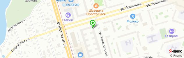 Студия красоты Pro Visage — схема проезда на карте