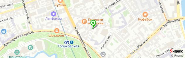 Клиника Долголетие на метро Горьковская — схема проезда на карте