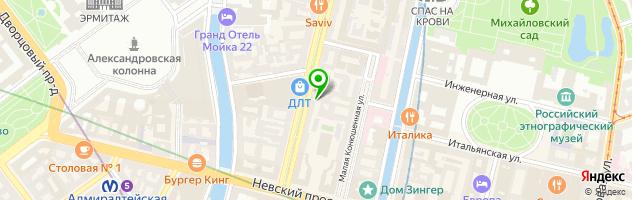 Часовой ломбард Перспектива-СПб — схема проезда на карте