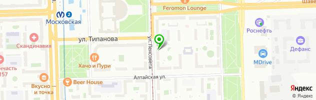 Ателье-химчистка на ул.Ленсовета 24 — схема проезда на карте