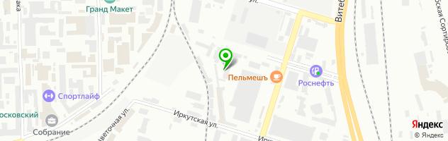 Элит Клининг Санкт-Петербург — схема проезда на карте