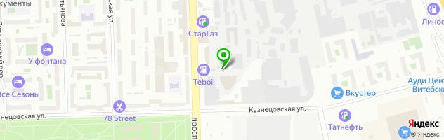 Сто Лабпар на Кузнецовской улице, 52к8 — схема проезда на карте