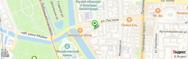 Кафе-ресторан Ботаника — схема проезда на карте