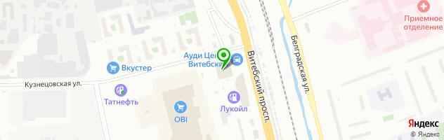Автоцентр Ауди Центр Витебский — схема проезда на карте