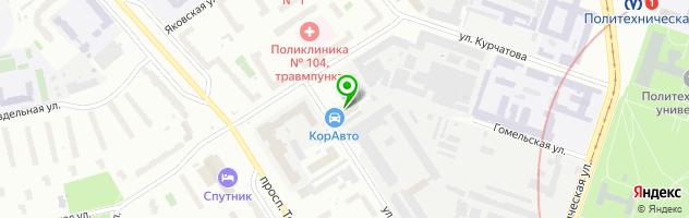 Сервисный центр BARBUS — схема проезда на карте