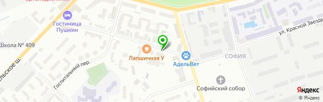 Кафе Аксинья — схема проезда на карте
