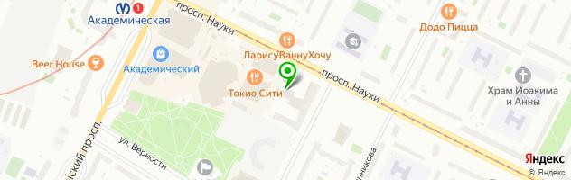 Ресторан-бильярдная Вираж — схема проезда на карте