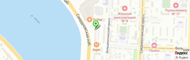 Свадебный банкетный зал Малиновка на Свердловской набережной, 60 — схема проезда на карте
