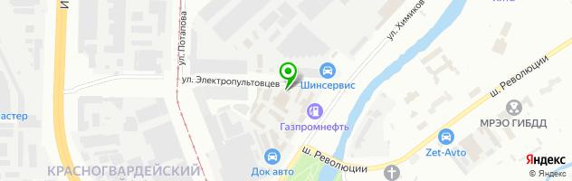 Гибрид Сервис СПб — схема проезда на карте