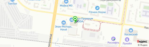 Авто Премиум — схема проезда на карте