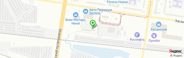 Автостоянка — схема проезда на карте