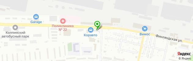 Автостоянка Корма-Раф — схема проезда на карте