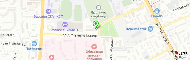 Медицинский центр Оптима — схема проезда на карте