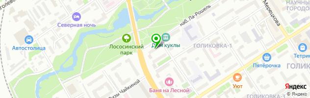 Кафе-бар SOVA — схема проезда на карте