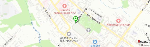 Кафе Центральный парк — схема проезда на карте