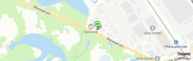 Автосервис СТО100АВТО — схема проезда на карте