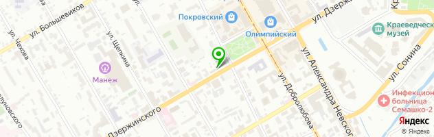 Торгово-сервисный центр Зелёная Волна — схема проезда на карте