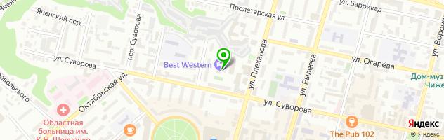 Гостиничный комплекс Best Western Kaluga — схема проезда на карте
