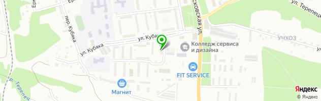 Общежитие Калужский колледж сервиса и дизайна — схема проезда на карте