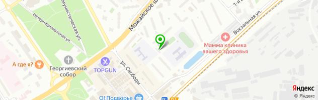 Сауна на Вокзальной 3а — схема проезда на карте