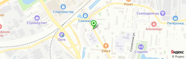Пеликан — схема проезда на карте