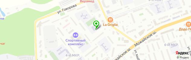 Одинцовский лицей №2 — схема проезда на карте