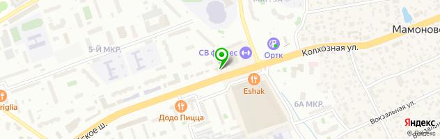 Ресторан Хрустальный — схема проезда на карте