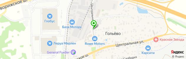 Автосервис ТВН — схема проезда на карте