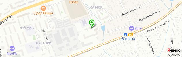 Новая сауна — схема проезда на карте
