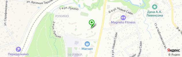 Успех в Ново-Переделкино — схема проезда на карте
