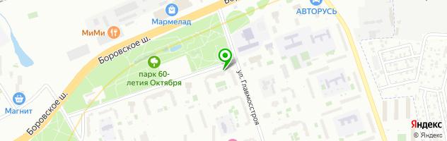 Гемотест — схема проезда на карте