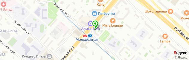 Парикмахерская DENISCATS — схема проезда на карте
