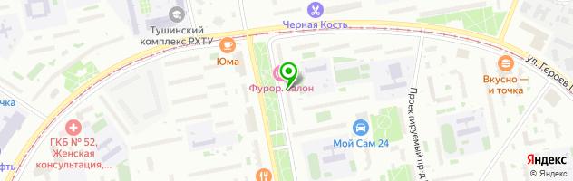 Студия  Красоты ФУРОР — схема проезда на карте