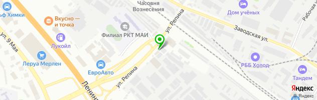 Ресторан Репин — схема проезда на карте