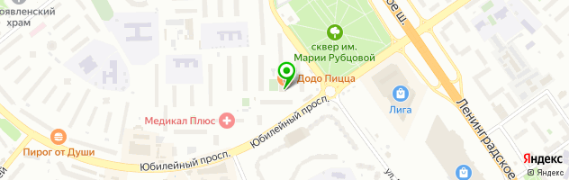 Химчистка-прачечная Акварели — схема проезда на карте