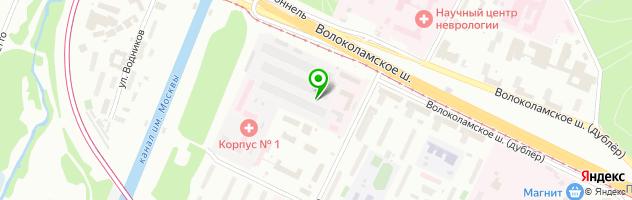 Инфекционная клиническая больница №1 — схема проезда на карте