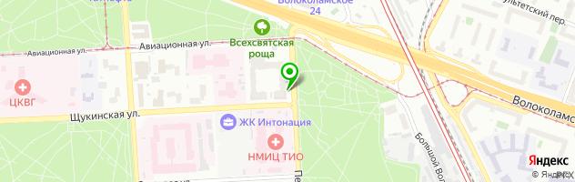 Студия-Салон красоты Бонжур на Щукинской — схема проезда на карте