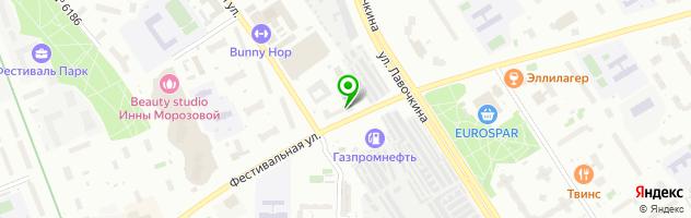 Медлайн-Сервис — схема проезда на карте
