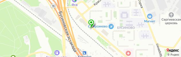 Кафе-бар Репин — схема проезда на карте