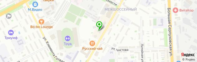 НеКафе Подольск — схема проезда на карте