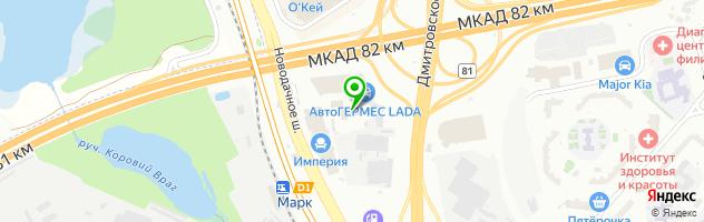 MVMotors — схема проезда на карте